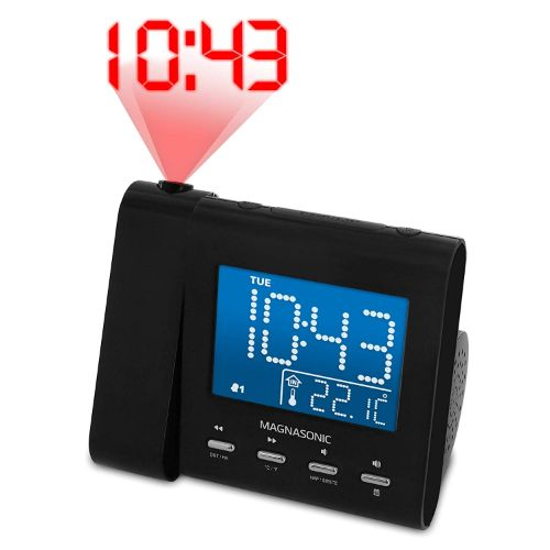 3. Magnasonic projection alarm clock radio