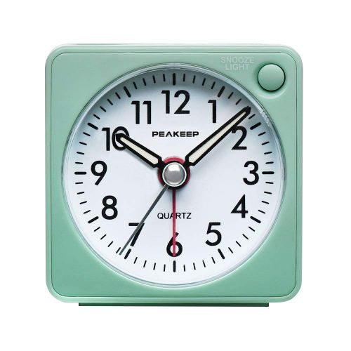 3. Peakeep Battery Travel Alarm Clock