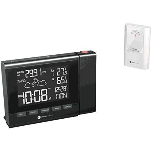 7. Ambient Weather RC-8401 Projection Clock with Forecast
