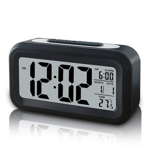 7. GLOUE Battery Operated Cordless Digital Alarm Clock