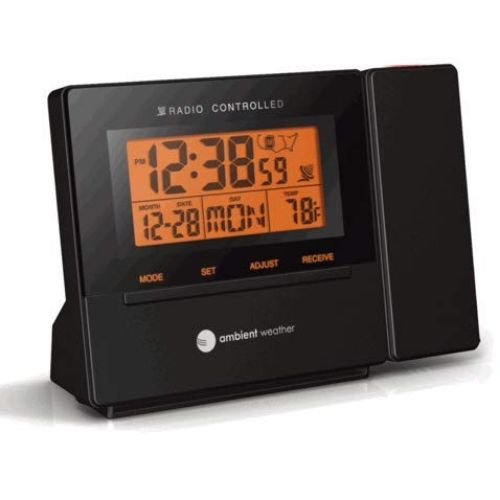 9. Ambient Weather RC-8427 ClearView Radio-Controlled Projection Clock