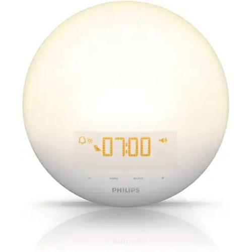 Philips Wake-Up Light Alarm Clock With Color Simulations-(HF3520)